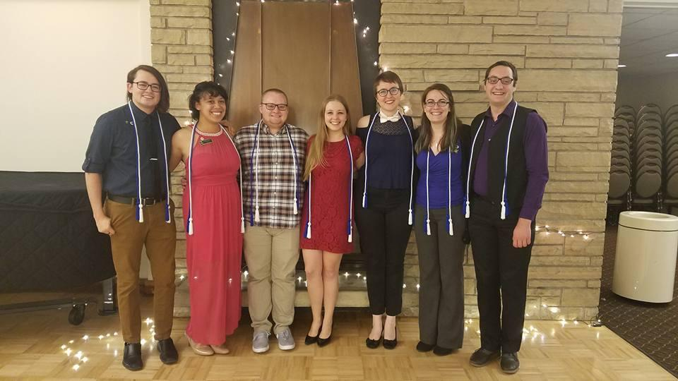 The NRHH members that received their honor cords at the 2017 End of Year Banquet