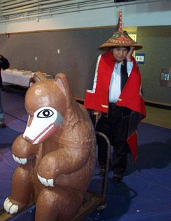 "2003: Alaska, repatriate ""Totem Teddy"" (Bear Clan Totem) to the Tlingit"