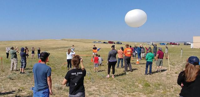 Ready for launch in Guernsey, Wyoming. Photo by Charles Kuehn