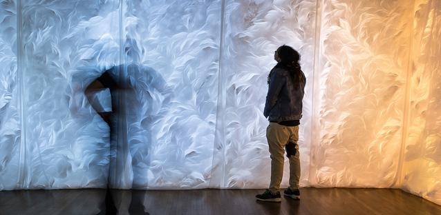 Mai-Fusco's work was installed in the Oak Room Gallery in Crabbe Hall during Spring semester. Photos by Woody Myers
