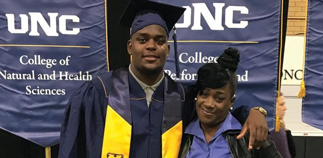 Samad's aunt, April Hinds, was in Greeley when he received his bachelor's degree in Criminal Justice.