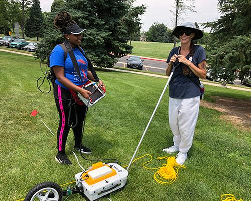 Betty and Nicole work with GPR