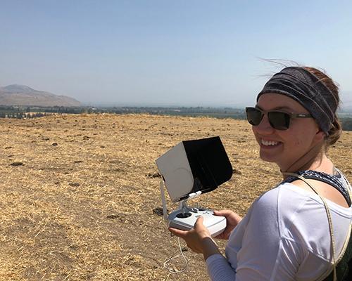 Taylor flying a UAV