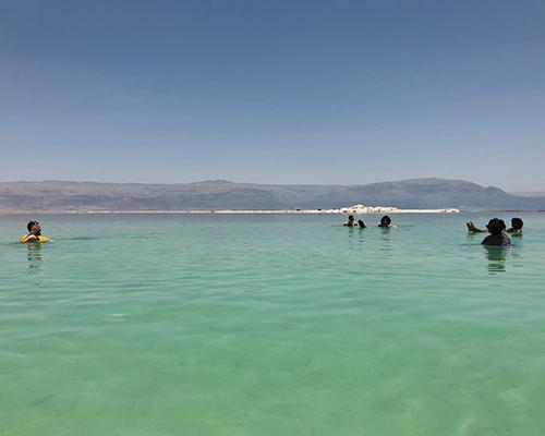 The team at the Dead Sea