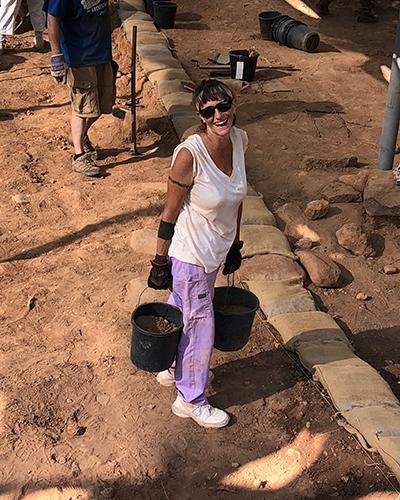 Nicole digging at Tel Dan