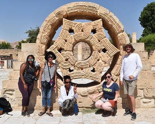 Team at Hishams Palace