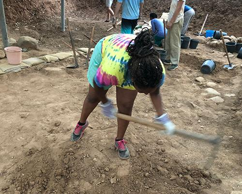 Betty digging at Tel Dan