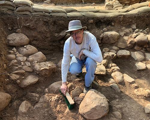 Andy digging at Tel Dan