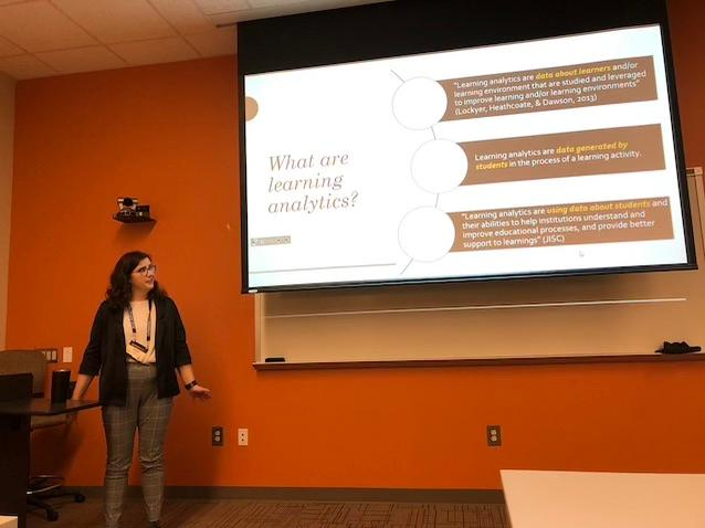 "Jessie Sutton, Psychology/Gender Studies/Applied Statistics: ""Learning Ana-Whatics?: A Qualitative Analysis of What Students and Faculty Know About Learning Analytics"""
