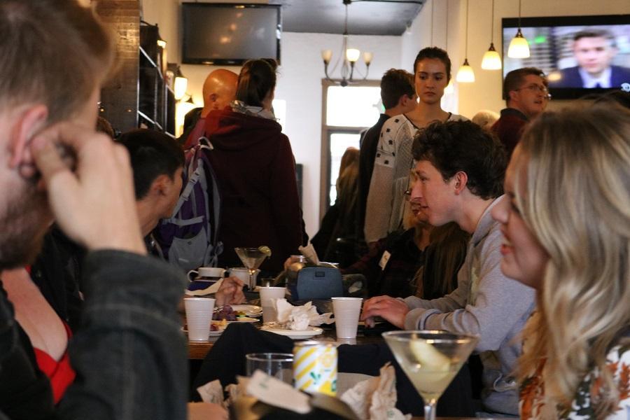 Graduate Student Appreciation Week party at Cranford's Tea Tavern