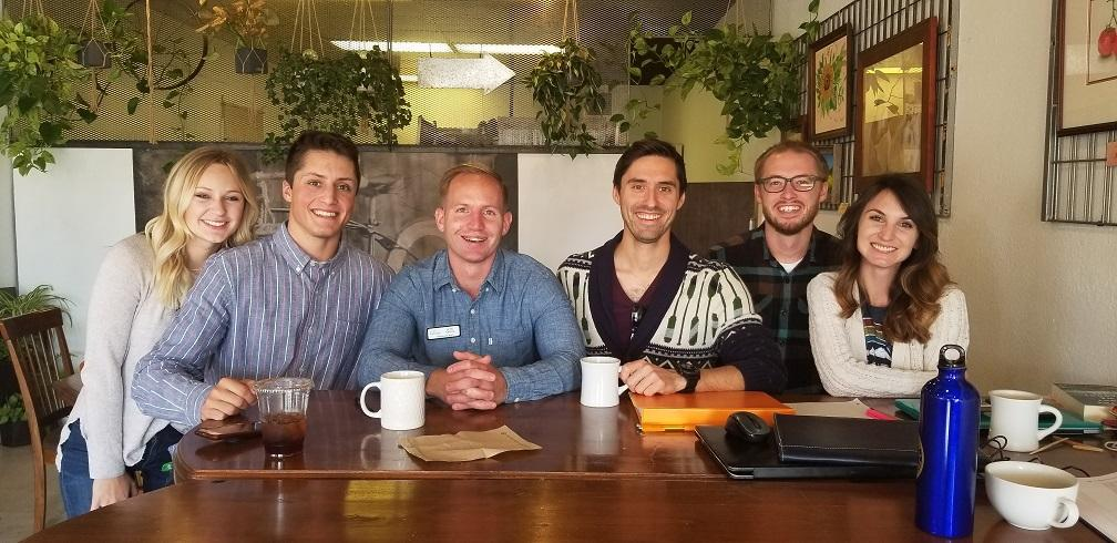 GSA Breakfast Club at Cranford's Tea Tavern in Downtown Greeley. Special Guest Jon Smail (Greeley City Councilperson; middle left).