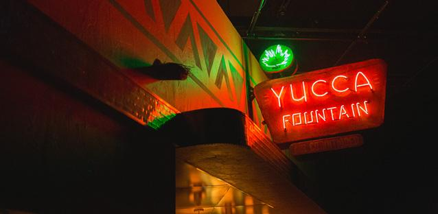 The Yucca Fountainsignage. Photo by Harper Point Photography