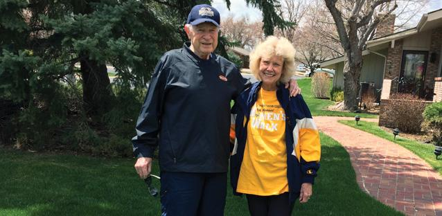 Pete and Jane Morrell join the Women's Walk from their home in Greeley. Both spent their careers heavily invested in Greeley and UNC.