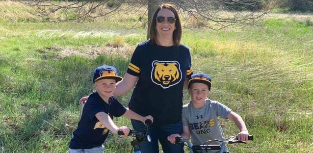 Allie Steg Haskett and her sons.