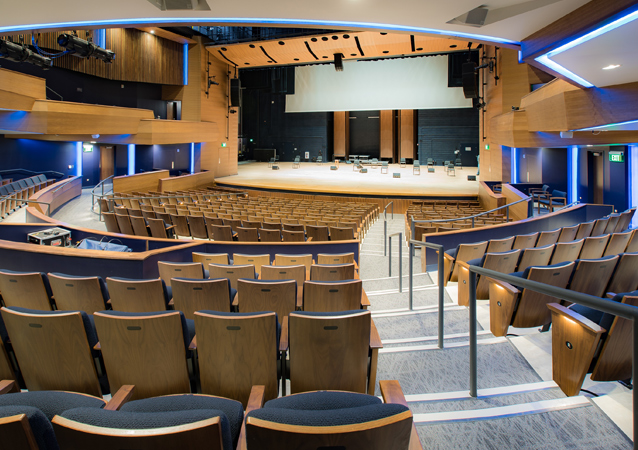 The 5,900 square-foot, 600-seat Performance Hall at Campus Commons allows for an all-inclusive, central space for performing arts, dance and music students to practice and perform, as well as a place for the community to come together and celebrate the arts. It's also home to several of UNC's 96 new Steinway pianos, funded by generous donors who helped UNC attain the coveted All-Steinway School designation.
