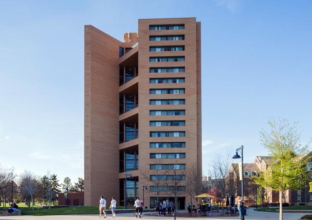 The tallest building between Denver, Colorado and Cheyenne, Wyoming, Lawrenson was built in 1973 and stands 17 stories tall.