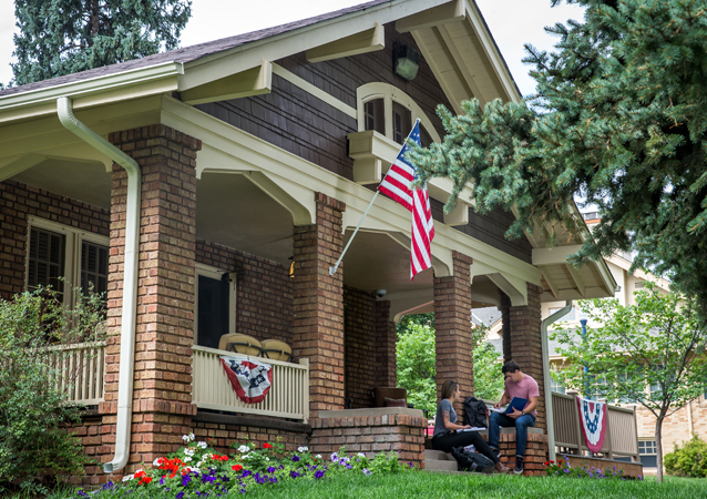 Housed in Roudebush Cottage, UNC's Veteran Services Office supports students who are veterans or military members and their descendants, providing them with a study space and benefits processing, and offering advocacy resources. Originally the cottage housed home economics.