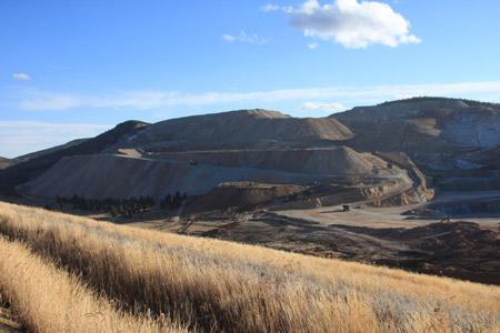 Open pit gold mine, Cripple Creek & Victor Mine, Colorado