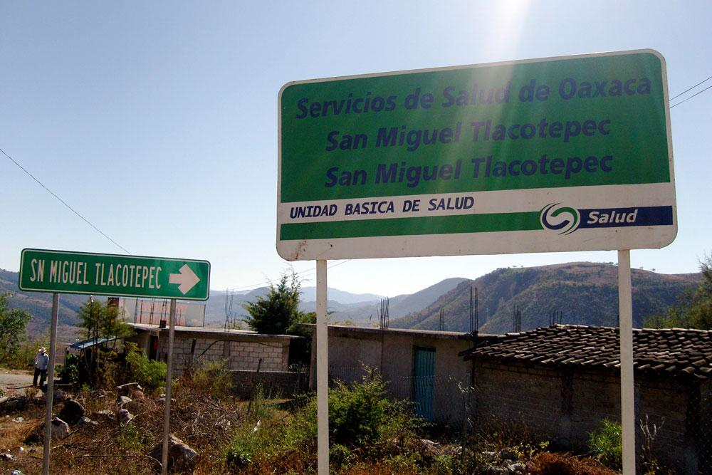 In addition to traditional medicine, patients also have the option of a local health center in San Miguel Tlacotepec, Oaxaca. Photo by Whitney Duncan.