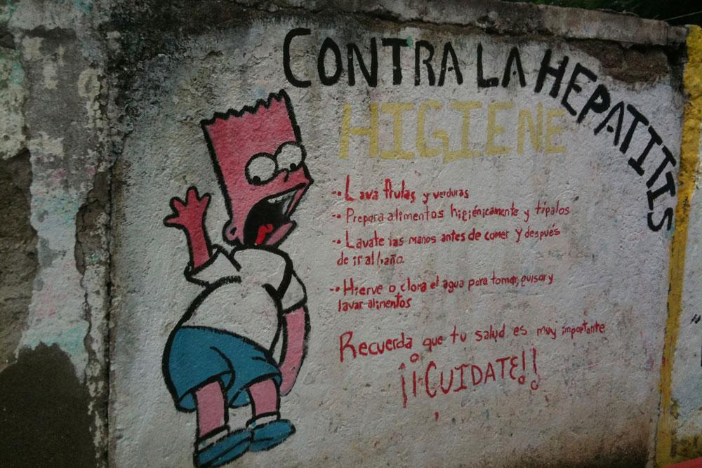Anti-hepatitis public health outreach in San Miguel Tlacotepec, Oaxaca. Photo by Whitney Duncan.