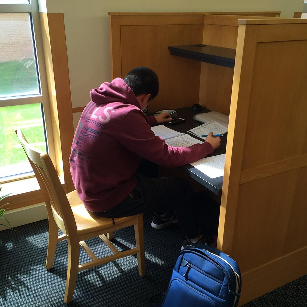 Study carrel in Skinner Music Library