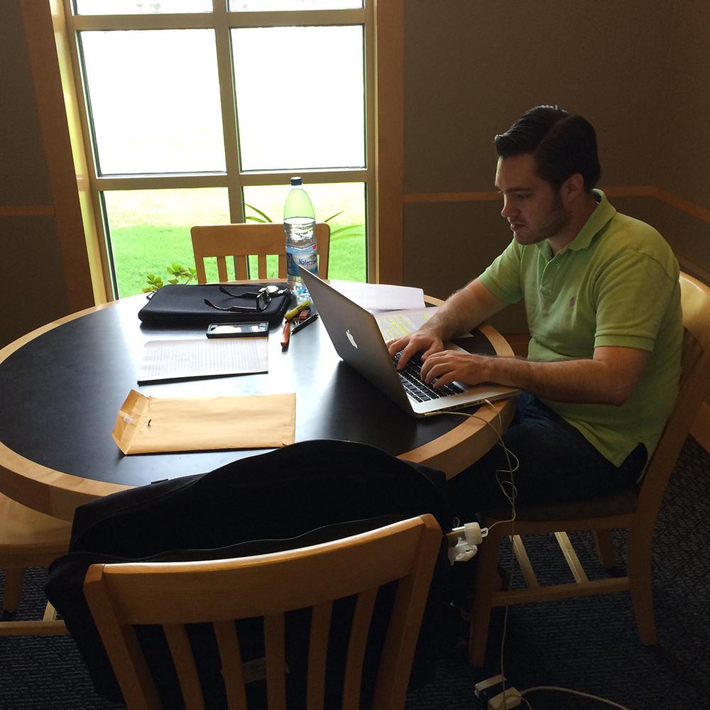 Study room in Skinner Music Library