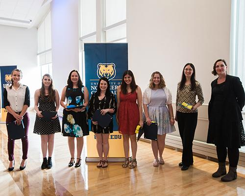English program student recognition award winners with faculty member Dr. Sarah Cornish