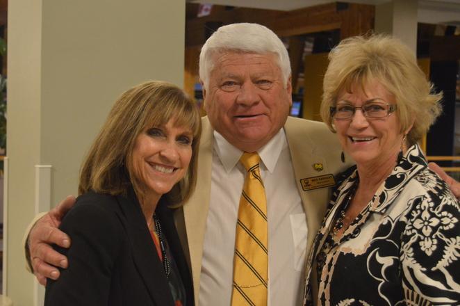 President Norton with advisory board members