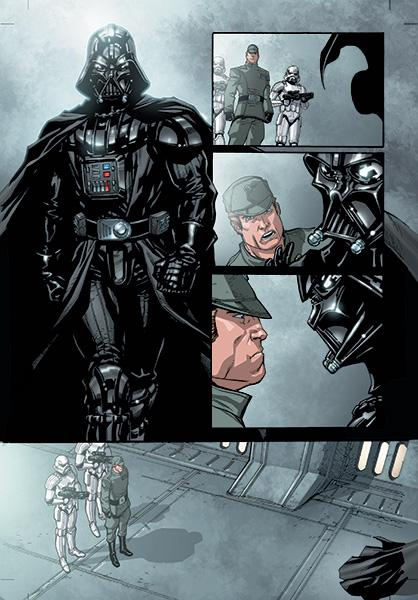 Star Wars #1, Page 20, Jan. 9, 2013. Colors by Gabe Eltaeb. Star Wars © 2013 Lucasfilm Ltd. & ™. All rights reserved.