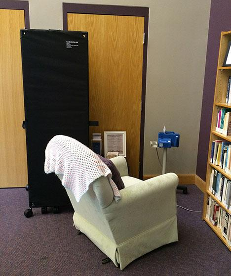 Center for Women's and Gender Equity Lactation Station in Scott-Willcoxon Hall