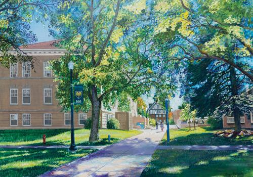 Campus series, 2016, oil on canvas