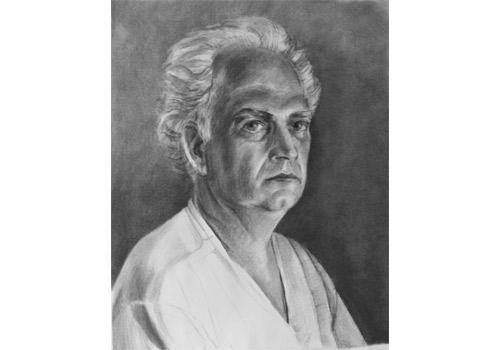 Self Portrait, 2010, charcoal