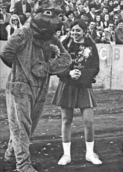 Early UNC Mascot with homecoming date