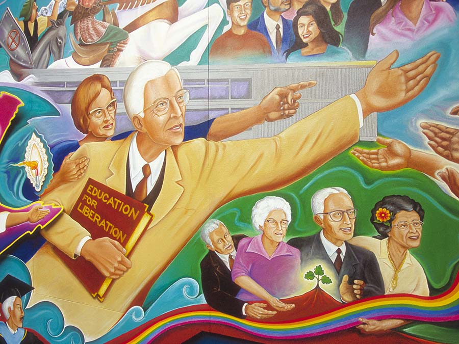 Photo of mural in Candelaria Hall