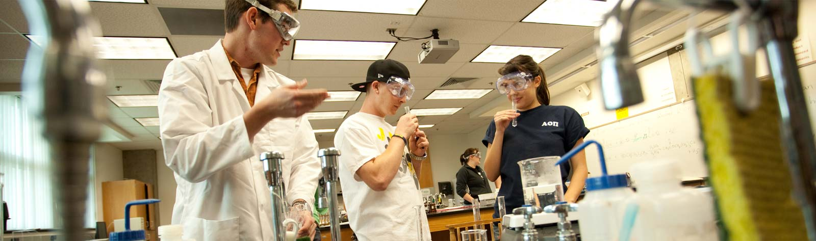 Students doing science