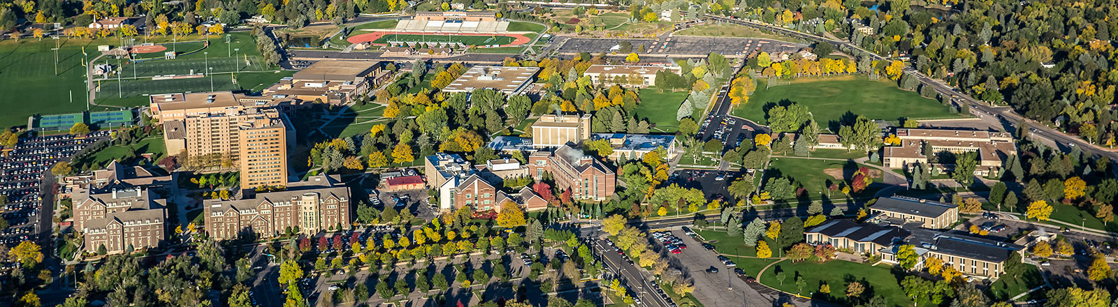 Campus shot from the air