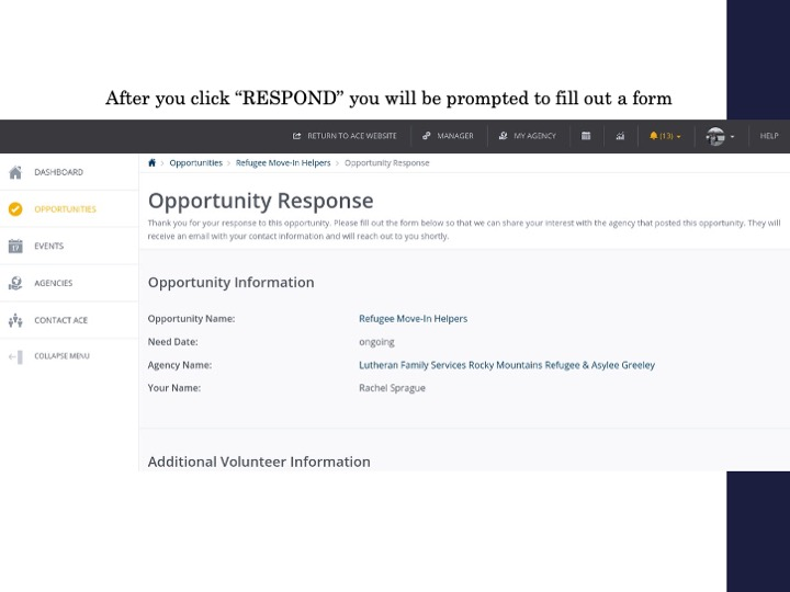 How to respond to opportunities and track your hours