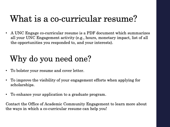 How to view and download your co-curricular resume