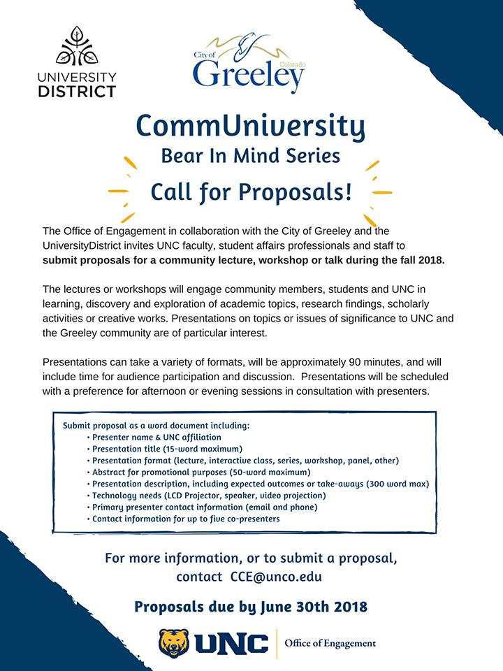 CommUniversity Lecture Proposals