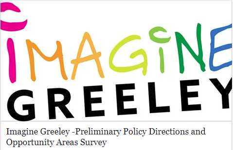 Image of Imagine Greeley Logo with text
