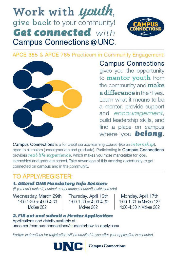 Campus connections flyer