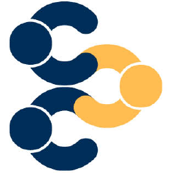 Blue and gold campus connections logo