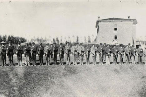 Old photos of Cadets at CSU