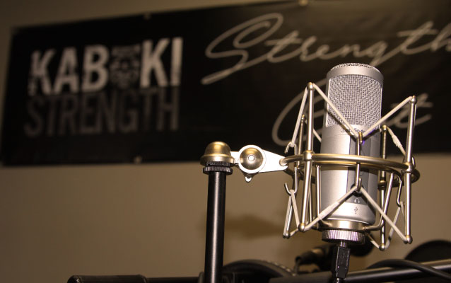 Kabuki Strength podcast studio