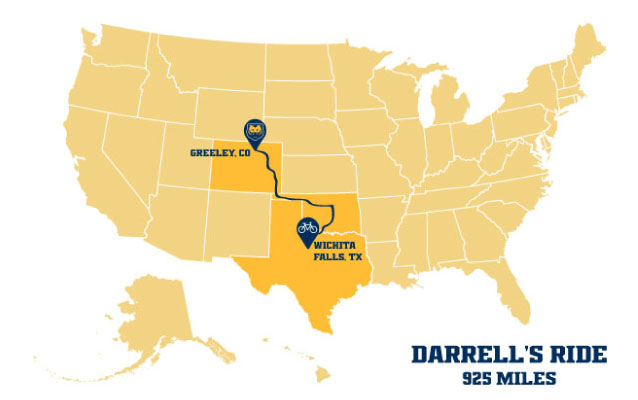 Darrell's Ride Map