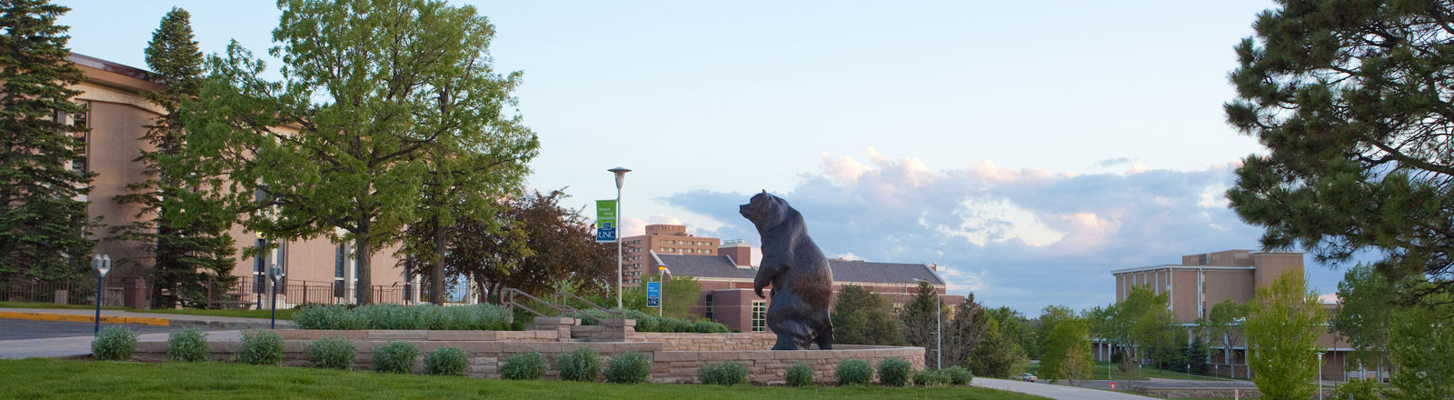 Bear Statue located outside the University Center