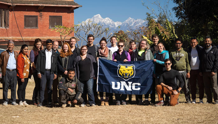 UNC students in Nepal