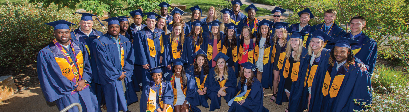 Blue and Gold Student-Athlete Graduates