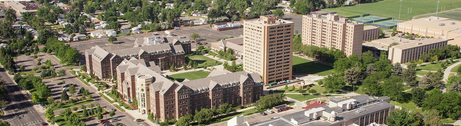 Ariel view of the UNC Campus
