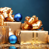 Blue and gold gifts
